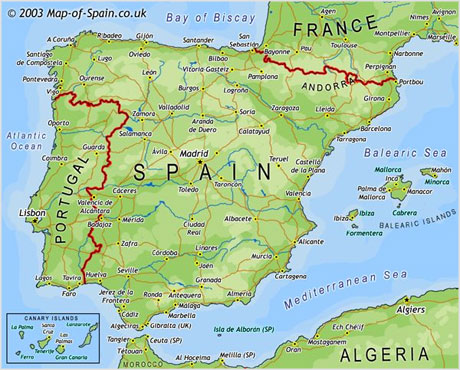 On A Map Where Is The Canaries Islands Spain